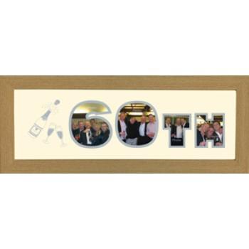 60th Photos in a Word Framed