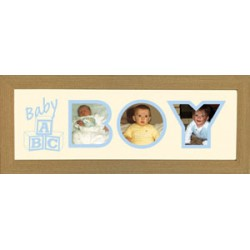 Baby Boy Photos in a word Framed
