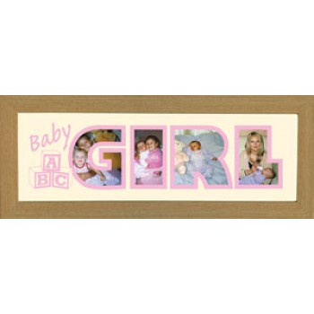 Baby Girl Photos in a word Framed