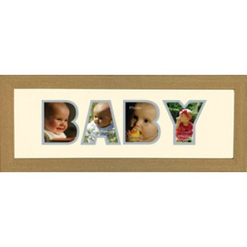 Baby Photos in a word Framed