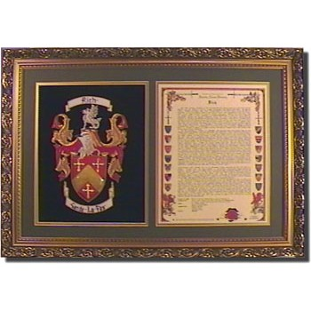 Embroidered Coat of Arms & History
