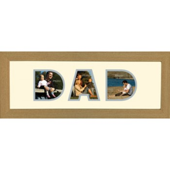 Dad Photos in a word Framed collected
