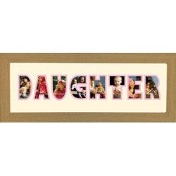 Daughter Photos in a word Framed