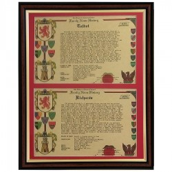 Double Surname History (Framed - UK ONLY)