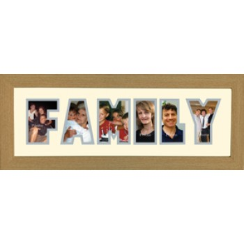 Family Photos in a word Framed