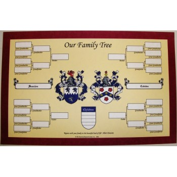Family Tree with Double Coat of Arms