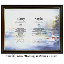 Double First Name Meaning with Boats background