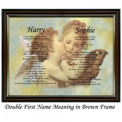 Double First Name Meaning with Cherubs background