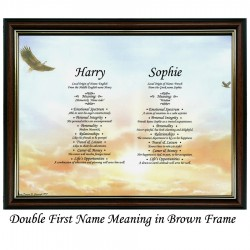 Double First Name Meaning with Eagles background
