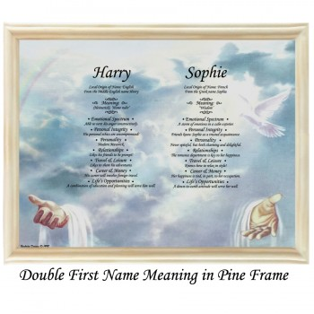 Double First Name Meaning with Hand and Dove background