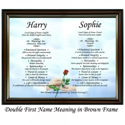 Double First Name Meaning with Hands and Rose background