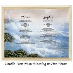 Double First Name Meaning with Sea background