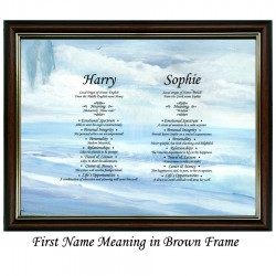 Double First Name Meaning with Sea Lovers background