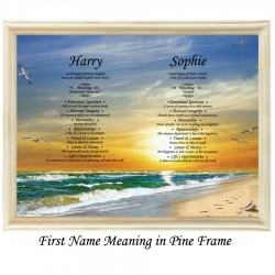 Double First Name Meaning with Sun and Beach background