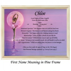 First Name Meaning with Ballerina background