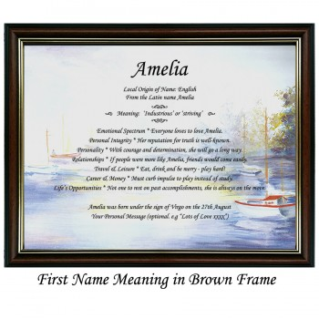 First Name Meaning with boats background
