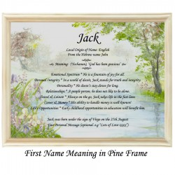 First Name Meaning with Bridge background