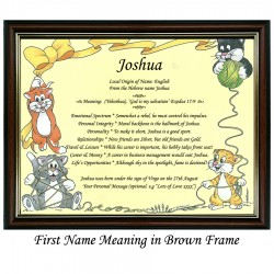 First Name Meaning with Cats and Wool background