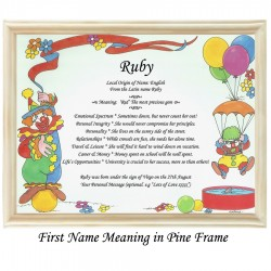 First Name Meaning with Clown background