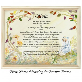 First Name Meaning with Girl background