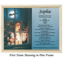 First Name Meaning with Girl in Window background (xmas)
