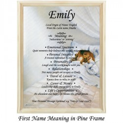 First Name Meaning with Girl Sleeping background