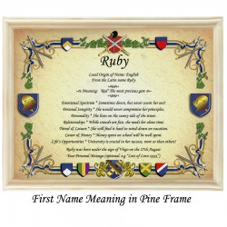 First Name Meaning with Heraldry background