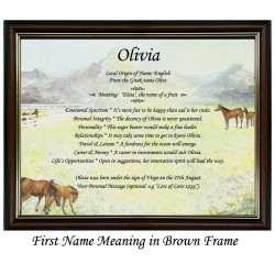 First Name Meaning with Horse background