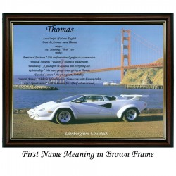 First Name Meaning with Lamborghini background