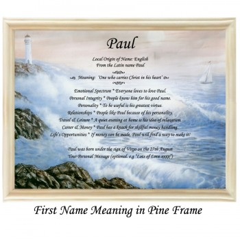 First Name Meaning with sea background