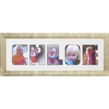 Five Letter Photos in a word Framed
