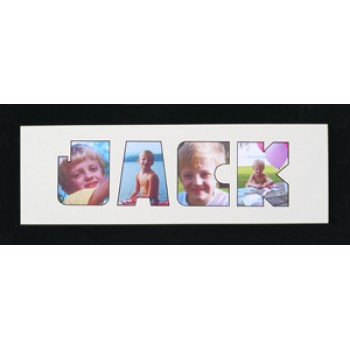 Four Letter Photos in a word Framed