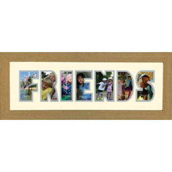 Friends Photos in a word Framed