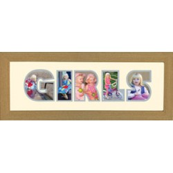 Girls Photos in a word Framed