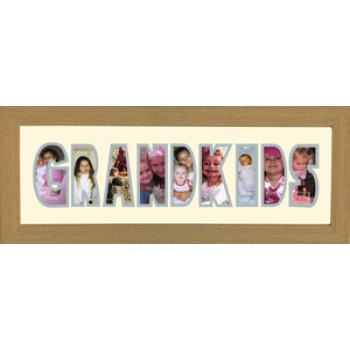 Grand Kids Photos in a word Framed