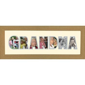 Grandma Photos in a word Framed