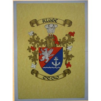 Hand Painted Coat Of Arms & Crest