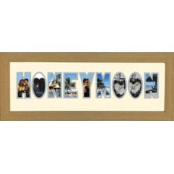 Honeymoon Photos in a word Framed