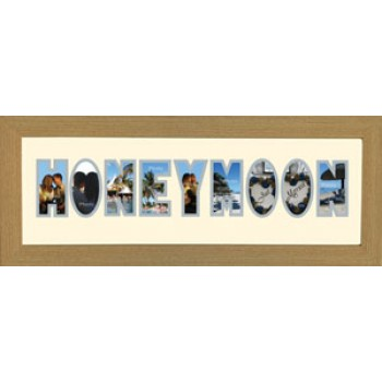 Honeymoon Photos in a word Framed