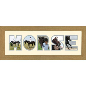 Horse Photos in a word Framed