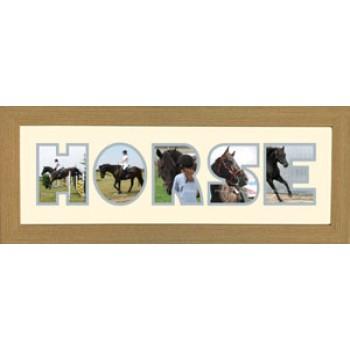 Horse Photos in a word Framed