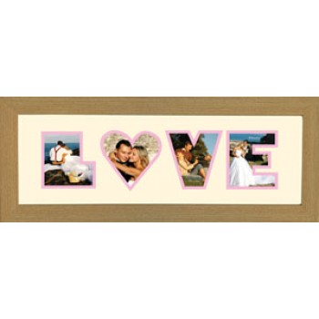 Love Photos in a word Framed