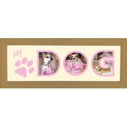 My Dog Pink Photos in a word Framed