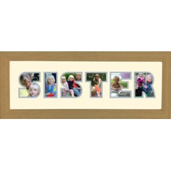 Sister Photos in a word Framed