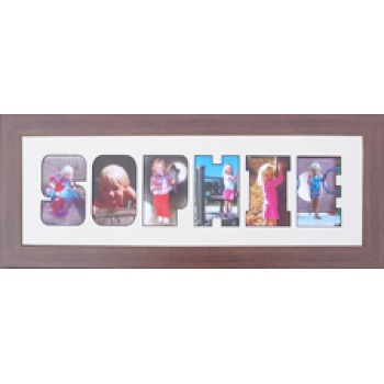 Six Letter Photos in a word Framed
