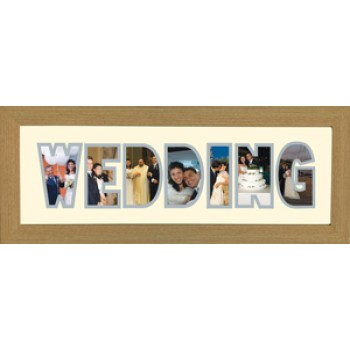 Wedding Photos in a word Framed